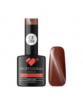 CE098 VB Line Cat Eye Brown Metallic gel nail polish