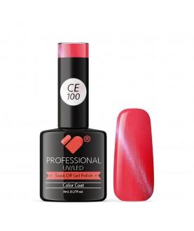CE100 VB Line Cat Eye Pink Metallic gel nail polish