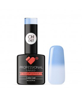 CH061 VB Line Colour Changing Blue White gel nail polish