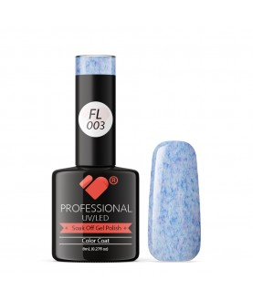 FL003 VB Line Candy Floss Blue White gel nail polish