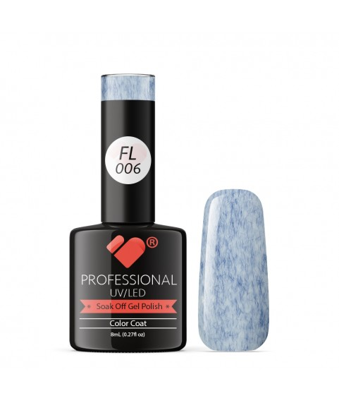 FL006 VB Line Candy Floss Dark Blue White gel nail polish