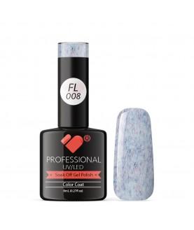 FL008 VB Line Candy Floss Blue Purple White gel nail polish