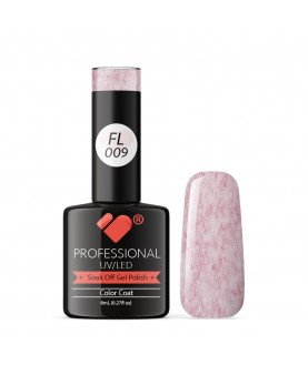 FL009 VB Line Candy Floss Red Purple White gel nail polish