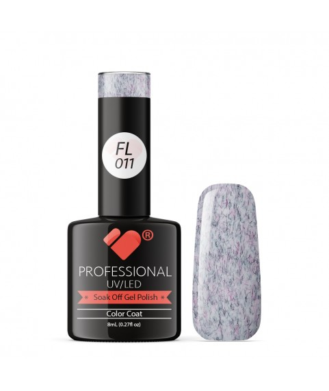 FL011 VB Line Candy Floss Black Purple White gel nail polish