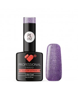 PL012 VB Line Platinum Purple Metallic gel nail polish
