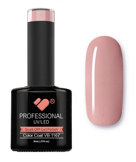 VB-1167 VB Line Salmon Nude Pink Saturated Gel Nail Polish