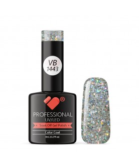 VB-1443 VB Line Happy Silver Glitter Saturated Gel Nail Polish