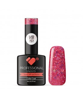 VB-151 VB Line Baby Pink Hot Glitter Saturated Gel Nail Polish
