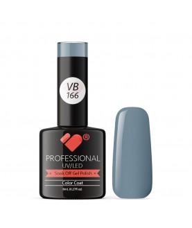 VB-166 VB Line Light Denim Patch Grey Saturated Gel Nail Polish