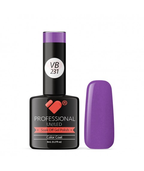 VB-231 VB Line Neon Purple Violet Saturated Gel Nail Polish