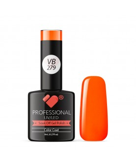 VB-279 VB Line Neon Orange Mandarin Saturated Gel Nail Polish