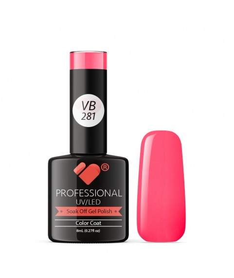 VB-281 VB Line Neon Pink Pinkie Saturated Gel Nail Polish