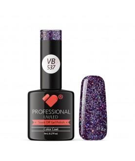 VB-537 VB Line Star Transparent Purple Saturated Gel Nail Polish