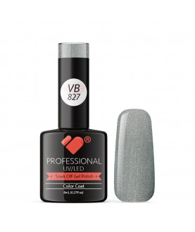 VB-827 VB Line Chrome Silver Saturated Gel Nail Polish