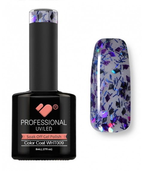 WHT-009 VB Line Rhomboid Purple Blue gel nail polish