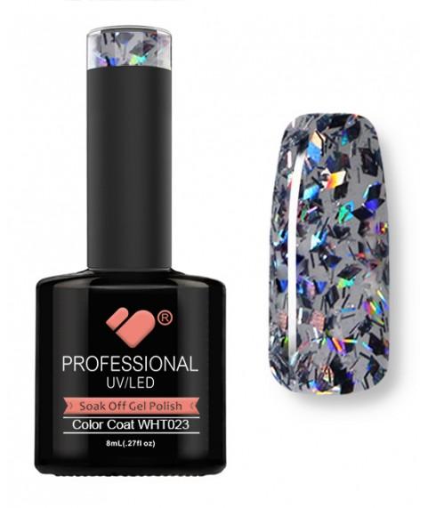 WHT-023 VB Line Rhomboid Dark Diamond gel nail polish