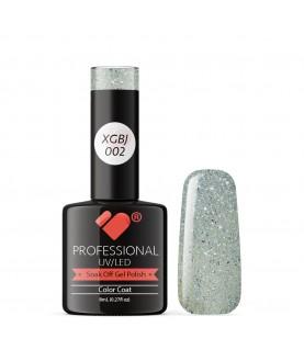 XGBJ-002 VB Line Adamant Star Grey Silver Glitter gel nail polish