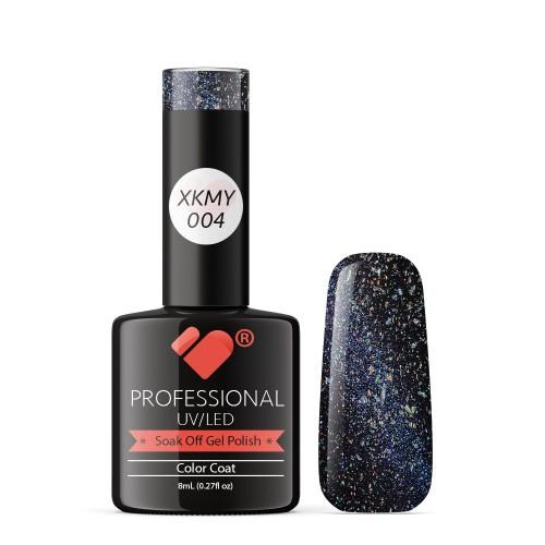 XKMY-004 VB Line Starry Cat Eye Black Blue Glitter gel nail polish