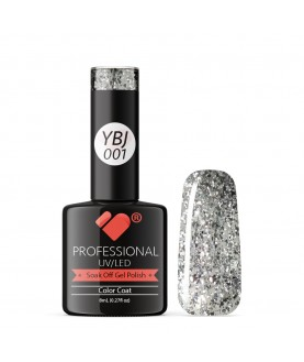 YBJ-001 VB Line Hot Platinum Silver Glitter gel nail polish