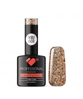 YBJ-008 VB Line Hot Platinum Rose Gold Glitter gel nail polish