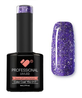 YBJ-017 VB Line Hot Platinum Purple Glitter gel nail polish