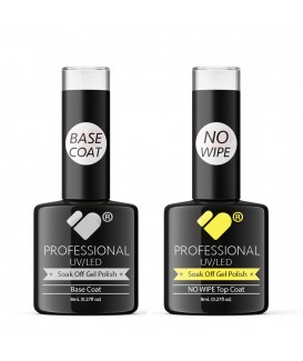 NO WIPE Top and Base Coats VB Line UV/LED Soak Off gel nail polish