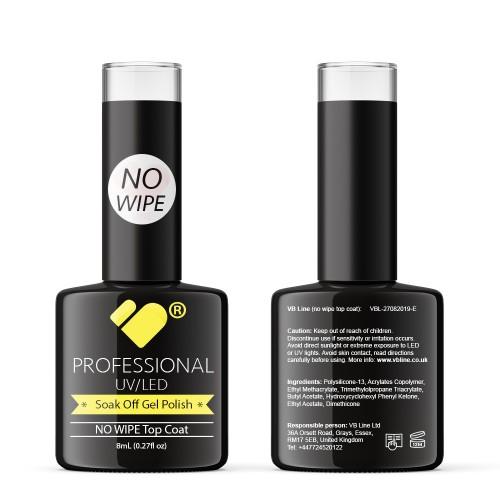 NO WIPE Top Coat VB Line UV/LED Soak Off gel nail polish