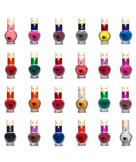 24 VB Line Kids Nail Polish Non Toxic Washable for Children Choice of 24 Shades